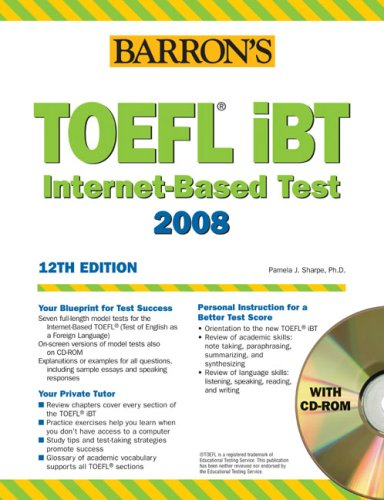 English Study: Barron's Toefl iBT 12th edition Ebook + Audio CD + Cd ...